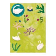 zwaan briefpapier stickers 2