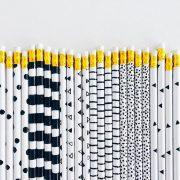 zwart wit potloden studio stationery