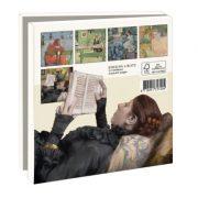 kaartenmapje lezen in de kunst